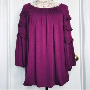NWOT- Max Edition Blouse w/Ruffle Sleeves